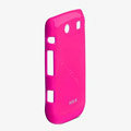 ROCK Colorful Glossy Cases Skin Covers for BlackBerry 9860 Monza - Rose (High transparent screen protector)