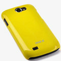 ROCK Colorful Glossy Cases Skin Covers for Samsung i8150 Galaxy W - Yellow (High transparent screen protector)