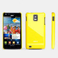 ROCK Colorful Glossy Cases Skin Covers for Samsung i997 infuse 4G - Yellow (High transparent screen protector)