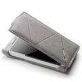 ROCK Flip leather Cases Holster Skin for Sony Ericsson LT26i Xperia S - Gray