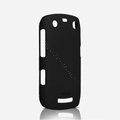 ROCK Naked Shell Hard Cases Covers for BlackBerry 9360 - Black (High transparent screen protector)