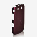 ROCK Naked Shell Hard Cases Covers for BlackBerry 9800 - Red (High transparent screen protector)