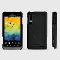 ROCK Naked Shell Hard Cases Covers for Motorola XT883 - Black (High transparent screen protector)