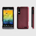 ROCK Naked Shell Hard Cases Covers for Motorola XT883 - Red (High transparent screen protector)
