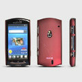 ROCK Naked Shell Hard Cases Covers for Sony Ericsson Xperia Neo MT15i MT11i - Red (High transparent screen protector)