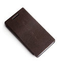 ROCK Side Flip leather Cases Holster Skin for Sony Ericsson LT26i Xperia S - Coffee