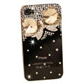 Bling Bowknot Crystal Cases Diamond Covers for iPhone 4G/4S - Black