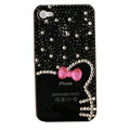 Bling Hello kitty Crystal Cases Diamond Covers for iPhone 4G/4S - Black
