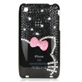 Bling Hello kitty Crystal Hard Cases Diamond Covers for iPhone 3G/3GS - Black
