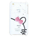 Bling Hello kitty Crystal Hard Cases Diamond Covers for iPhone 3G/3GS - Pink