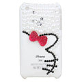 Bling Hello kitty Crystal Hard Cases Diamond Covers for iPhone 3G/3GS - Red