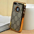 Luxury GUCCI Ultrathin Metal edge Hard Back Cases Covers for iPhone 4G - Black