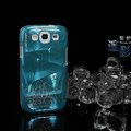 Nillkin 3D Mysterious Shadow Hard Cases Skin Covers for Samsung Galaxy SIII S3 I9300 I9308 - Ice Blue (High transparent screen protector)