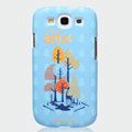 Nillkin Arts Show Hard Cases Skin Covers for Samsung Galaxy SIII S3 I9300 I9308 - Forest (High transparent screen protector)