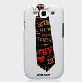 Nillkin Arts Show Hard Cases Skin Covers for Samsung Galaxy SIII S3 I9300 I9308 - Necktie (High transparent screen protector)
