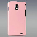 Nillkin Colorful Hard Cases Skin Covers for Samsung E120L GALAXY S2 SII HD LTE - Pink (High transparent screen protector)