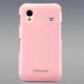 Nillkin Colorful Hard Cases Skin Covers for Samsung Galaxy Ace S5830 i579 - Pink (High transparent screen protector)