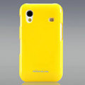 Nillkin Colorful Hard Cases Skin Covers for Samsung Galaxy Ace S5830 i579 - Yellow (High transparent screen protector)