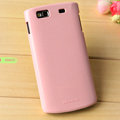 Nillkin Colorful Hard Cases Skin Covers for Samsung S8600 Wave 3 - Pink (High transparent screen protector)