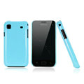 Nillkin Colorful Hard Cases Skin Covers for Samsung i9008L - Blue (High transparent screen protector)