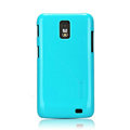 Nillkin Colorful Hard Cases Skin Covers for Samsung i929 Galaxy S II DUOS - Blue (High transparent screen protector)