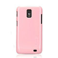 Nillkin Colorful Hard Cases Skin Covers for Samsung i929 Galaxy S II DUOS - Pink (High transparent screen protector)