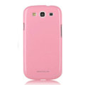 Nillkin Colorful Hard Cases Skin Covers for Samsung i939 Galaxy SIII S3 - Pink (High transparent screen protector)