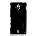 Nillkin Colorful Hard Cases Skin Covers for Sony Ericsson MT27i Xperia sola - Black (High transparent screen protector)