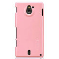 Nillkin Colorful Hard Cases Skin Covers for Sony Ericsson MT27i Xperia sola - Pink (High transparent screen protector)