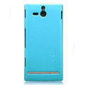Nillkin Colorful Hard Cases Skin Covers for Sony Ericsson ST25i Xperia U - Blue (High transparent screen protector)