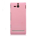Nillkin Colorful Hard Cases Skin Covers for Sony Ericsson ST25i Xperia U - Pink (High transparent screen protector)