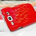 Nillkin Dynamic Color Hard Cases Skin Covers for Samsung Galaxy SIII S3 I9300 I9308 - Red (High transparent screen protector)