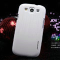 Nillkin Dynamic Color Hard Cases Skin Covers for Samsung Galaxy SIII S3 I9300 I9308 - White (High transparent screen protector)