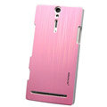 Nillkin Dynamic Color Hard Cases Skin Covers for Sony Ericsson LT26i Xperia S - Pink (High transparent screen protector)