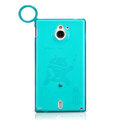 Nillkin La Q Super Matte Cases Skin Covers for Sony Ericsson MT27i Xperia sola - Blue (High transparent screen protector)