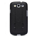 Nillkin Lozenge Skin Hard Cases Covers for Samsung Galaxy SIII S3 I9300 I9308 - Black (High transparent screen protector)
