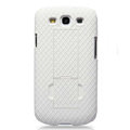Nillkin Lozenge Skin Hard Cases Covers for Samsung Galaxy SIII S3 I9300 I9308 - White (High transparent screen protector)