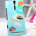 Nillkin Summer Fashion Hard Cases Skin Covers for Sony Ericsson LT26i Xperia S - Straw hat (High transparent screen protector)