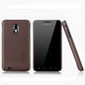 Nillkin Super Matte Hard Cases Skin Covers for Samsung Epic 4G Touch D710 - Brown (High transparent screen protector)