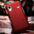 Nillkin Super Matte Hard Cases Skin Covers for Samsung Galaxy Ace S5830 i579 - Red (High transparent screen protector)