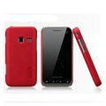 Nillkin Super Matte Hard Cases Skin Covers for Samsung S5820 - Red (High transparent screen protector)
