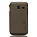 Nillkin Super Matte Hard Cases Skin Covers for Samsung S6102 Galaxy Y Duos - Brown (High transparent screen protector)