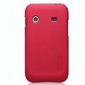 Nillkin Super Matte Hard Cases Skin Covers for Samsung i619 Galaxy Ace Dear - Red (High transparent screen protector)