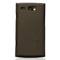 Nillkin Super Matte Hard Cases Skin Covers for Samsung i8350 mnia W - Brown (High transparent screen protector)