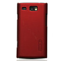 Nillkin Super Matte Hard Cases Skin Covers for Samsung i8350 mnia W - Red (High transparent screen protector)