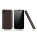Nillkin Super Matte Hard Cases Skin Covers for Samsung i9008L - Brown (High transparent screen protector)