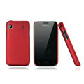 Nillkin Super Matte Hard Cases Skin Covers for Samsung i9008L - Red (High transparent screen protector)