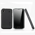Nillkin Super Matte Hard Cases Skin Covers for Samsung i9018 Galaxy S - Black (High transparent screen protector)