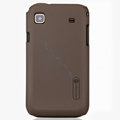 Nillkin Super Matte Hard Cases Skin Covers for Samsung i9018 Galaxy S - Brown (High transparent screen protector)