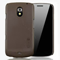 Nillkin Super Matte Hard Cases Skin Covers for Samsung i9250 GALAXY Nexus Prime i515 - Brown (High transparent screen protector)